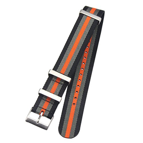 20 millimetri nero/grigio/arancio di fascia nylon balistico sostituzione...