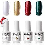 Colores de uñas para Navidad 4 Colors - Kit de manicura en Gel para el hogar de edición Especial
