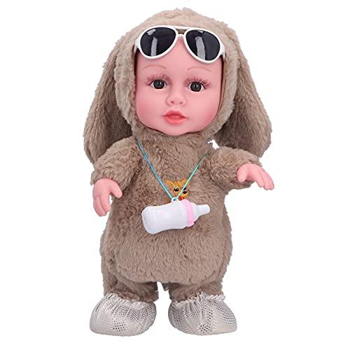 CUTULAMO Bambola Danzante, Bambola Musicale, Vestiti Carini e Accessori con Molti bei Dettagli per Il Regalo(Bambola biberon Marrone (Borsa))