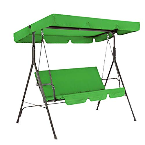 Patio Swing Canopy Cover Porch Waterproof Sunscreen Garden Cover Seater Hammock Glider Cover Weather Resistant Bench Top Replacement Sun Shade Cover Decor