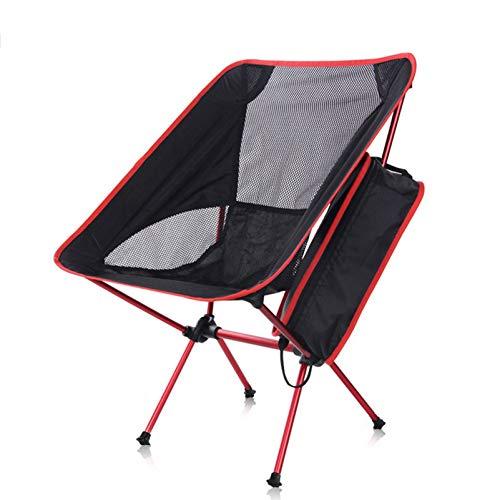 LINGZE Silla de Camping de Acero Plegable para Exteriores, Asiento Plegable con Bolsa de Viaje, Pesca, Playa, Viajes