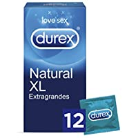 Durex Preservativos Originales Naturales Natural Plus Talla XL - 12 Condones