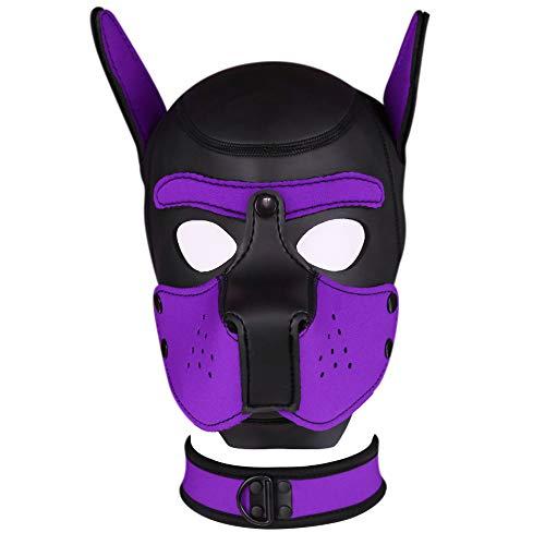 Bantie Neopren Welpen Kapuze welpenmaske, Full face Maske Für Halloween Kostüm Cosplay Party