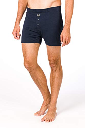 Super.natural boxershort voor heren, met merinowol, M BASE WIDE BOXER SHORT 175