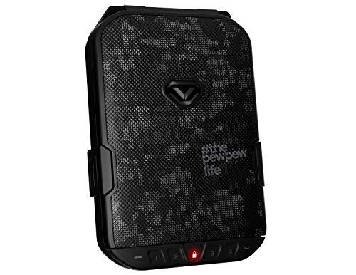 Vaultek LifePod Secure Waterproof Travel Case Rugged Electronic Lock Box Travel Organizer Portable Handgun Safe with Backlit Keypad (Colion Noir Edition)