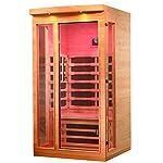 ALEKO Indoor Canadian Hemlock Infrared Sauna - Multi-Colored Light Spectrum - 1 Person