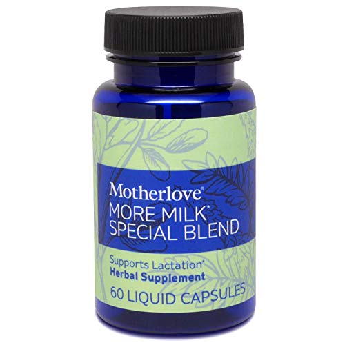 Motherlove More Milk Special Blend Vegan Capsules (60ct) Herbal Lactation Supplement w/ Goat's Rue to Build Mammary Tissue & Enhance Breast Milk Supply for Breastfeeding Moms—Organic Herbs, Non-GMO