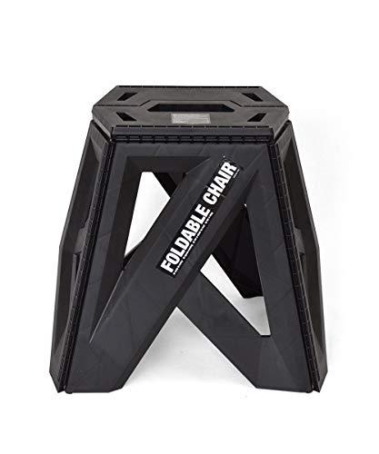 b.c.l フォーダブルチェア 39cm ブラック ブラック W座面:29 最大幅:42.6×D座面:20 最大幅:33×H39cm 踏み台 フォーダブルチェア 折りたたみ アウトドア 椅子 127703