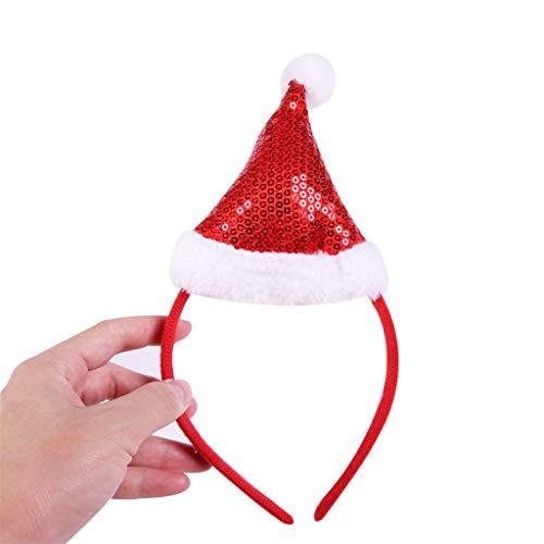 WFRAU Hot Weihnachten Pailletten Haarreif Christmas Weihnachtsmann Mütze...