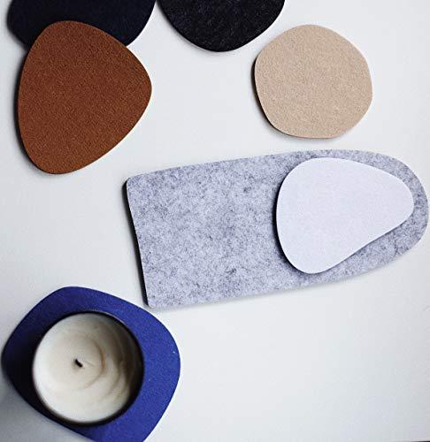 anaan Abstract Decorativi Sottobicchieri Feltro Set di 7 per bevande, bicchieri, tazze, Design Geometrica Antiscivolo Moderno Multicolore
