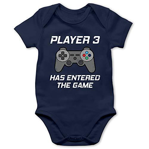 Zur Geburt - Player 3 Has Entered The Game Controller grau - 1/3 Monate - Navy Blau - Baby Body Geburt Player - BZ10 - Baby Body...
