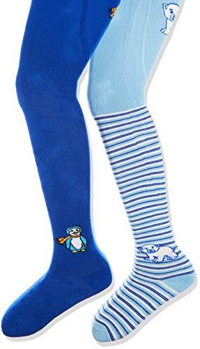 Playshoes Mädchen elastische Thermo Eisbär/Pinguin Strumpfhose, Blau (Original 900), (Herstellergröße: 50/56) (2er Pack)
