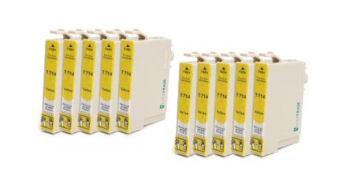 Silvertrade - 10 x kompatible XL Tintenpatronen mit CHIP, kompatibel zu Epson (10x yellow T0714) für Epson Stylus D120 D120 Network Edition D78 D92 DX4000 DX4050 DX4400 DX5000 DX6000 DX6050 DX7000F DX7400 DX7450 DX8400 DX8450 DX9400F DX9400F Wifi-Edition Office B40W Office BX300F Office BX600FW Office BX610FW S20 S21 SX100 SX105 SX110 SX115 SX200 SX205 SX210 SX215 SX400 SX400 WiFi SX405 SX405 WiFi SX410 SX415 SX425 SX510W SX515W SX600FW SX610FW