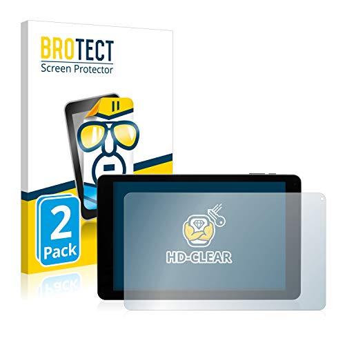 BROTECT Schutzfolie kompatibel mit Captiva Pad 10 3G Plus (2 Stück) klare Bildschirmschutz-Folie