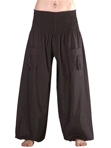 Leucht-Welten Damen Herren Pumphose Pluderhose mit Taschen Schwarz Einheitsgröße