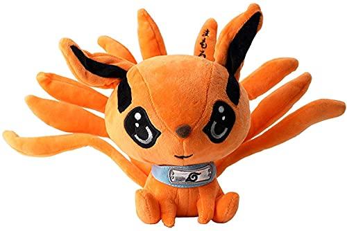 Lindo Anime Naruto Kyuubi Kurama juguetes de peluche 30 cm lindo juguete de felpa decoración de la habitación regalo de cumpleaños muñeca de peluche regalo creativo