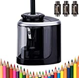 Electric pencil sharpener battery powered pencil sharpener for colored pencils,High-Speed Operated Automatic and Manual pencil sharpener for kids ,for Home School Office Classroom Kids and Adults