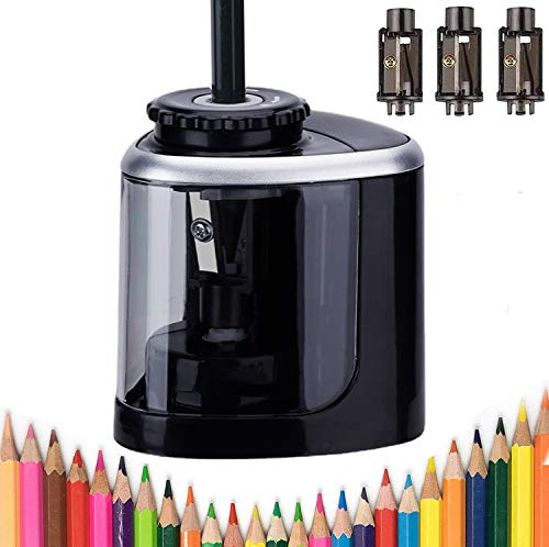 Electric pencil sharpener battery powered pencil sharpener for colored pencils,High-Speed Operated...