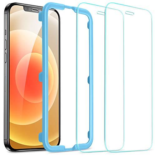 ESR iPhone 12 mini 用 ガラスフィルム 2枚入り 強化ガラス ガイド枠付き 液晶保護フィルム 5.4インチ
