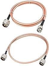 Low Loss RF Coaxial - Cable de conexión coaxial RG-142 N macho a N macho (60 cm)