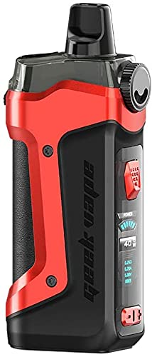 Original Geekvape Aegis Boost Plus Kit 5.5ml cartridge 40W 3-in-1 Vape Pod Power by single 18650 battery E-cig Vape MTL Kit (Diablo rojo)