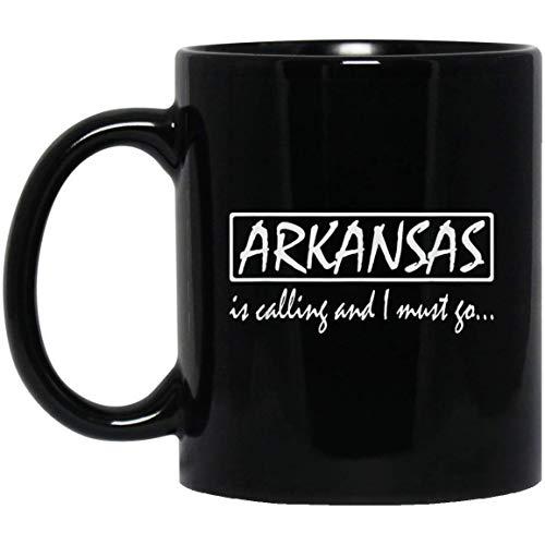 Arkansas is aan het bellen en ik moet gaan grappige Arkansas 11 oz. Zwarte mok