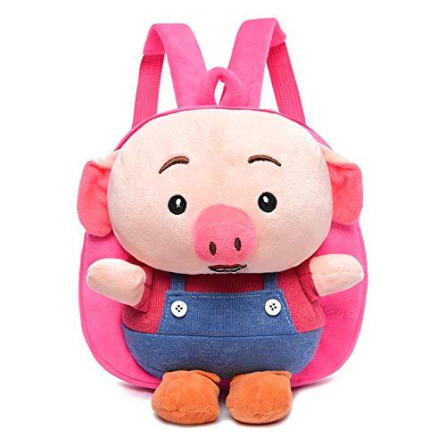 GRAFTS - Cartella in peluche carino, motivo: animale, carino, 3D, 2-8 anni, Rosa (Rosa) - YLETBB110905E001