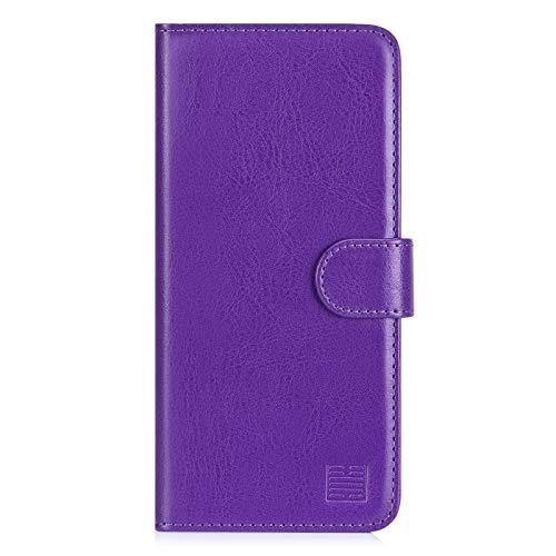 32nd PU Leder Mappen Hülle Flip Case Cover für Samsung Galaxy A52 5G (2021), Ledertasche hüllen mit Magnetverschluss und Kartensteckplatz - Violett