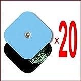 TENSPAD SILVER Pack de 20 electrodos 50x50mm compatibles con aparatos de Marcas: VITALCONTROL, SANITAS, BLUETENS