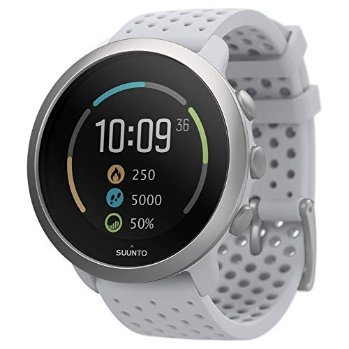 SUUNTO 3, Sports Watch with Wrist-Based Heart Rate, 24/7 Fitness Activity and Recovery Tracking - Pebble White, Model: SS050416000