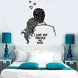sybdnr Hommes et femmes Wall Decal Je t'aime pour toujours romantique Couple Chambre...