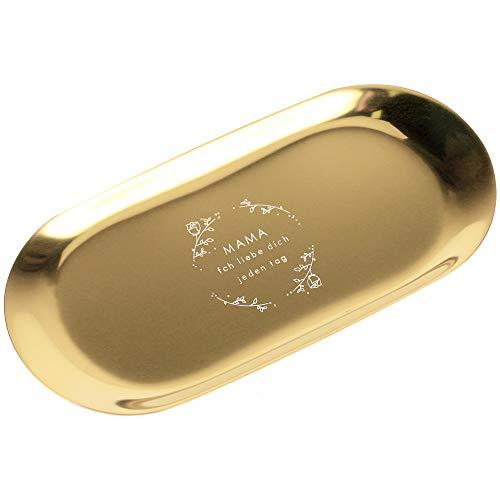 KINIVA - Vassoio per gioielli in acciaio inox 304, ovale, per conservare gioielli e cosmetici,...