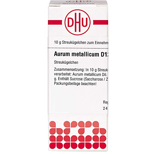 DHU Aurum metallicum D12 Streukügelchen, 10 g Globuli
