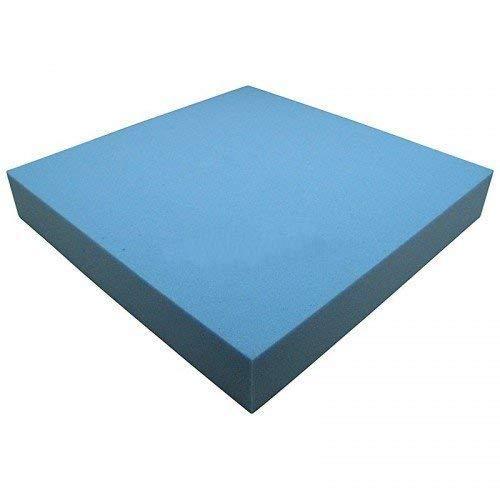 Heiro Schaumstoffplatte Blau 50x50cm Schaumstoff Kissen Schaumstoffpolster - extra formstabil - 8cm dick