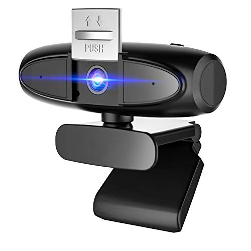 CawBing Cámara Web 1080P con Micrófono, Computadora Portátil PC de Escritorio Webcam Full HD para Videoconferencia, Estudios, Conferencias, Grabación, Juegos, con Clip Giratorio