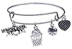 Material: Stainless steel bangle with zinc alloy charms, with nickle and lead safe One size fits most A great gifts for family member or any of the person you love...it is suitable for different ages. Well packaged in a velvet bag for easy gift-givin...