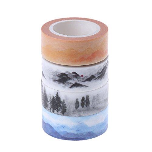 ATATMOUNT Mountain Design 15mmx7M DIY Papier Sticky Adhesive Sticker Dekoratives Washi Tape