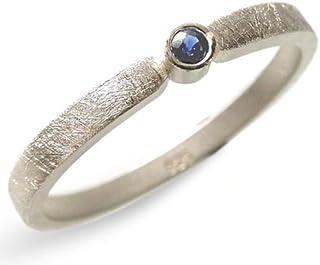 Silberring mit blauem Saphir - Verlobungsring, Vorsteckring, Hochzeit - handgefertigt by SILVERLOUNGE