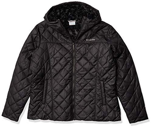 Columbia Women's Plus Size Copper Crest Hooded Jacket, Black, 2X
