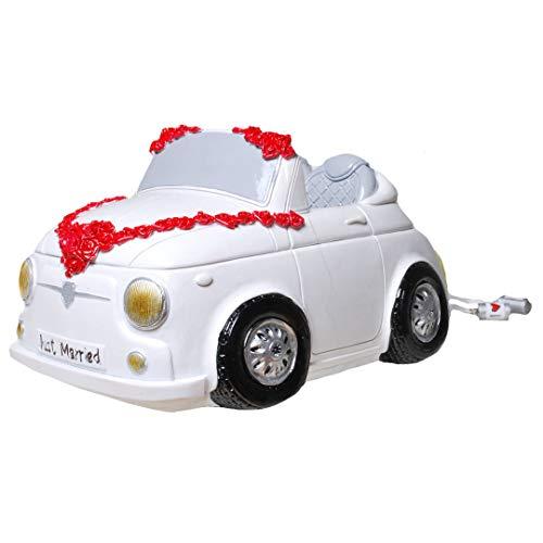 UDO Schmidt XXL spaarpot mini cabrio huwelijk 23 cm spaarvarken
