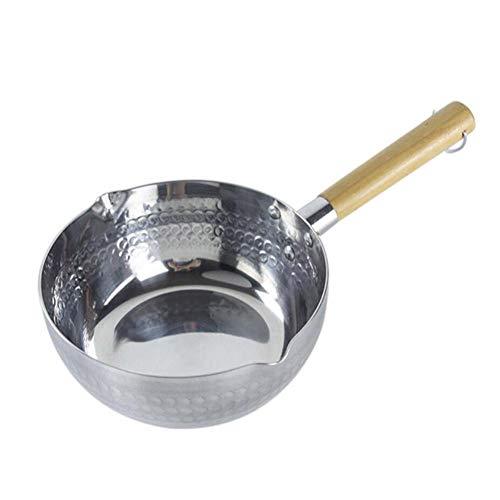 CIJK Mini Edelstahl Induktionskochtopf Kochtopf Suppentopf Milch-Butter-Sauce Pan Mit Griff,22cm