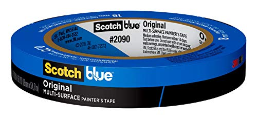ScotchBlue Original Painter's Tape 2090-18NC, 0.70 in x 60 yd (18mm x 54,8m), 1 Roll