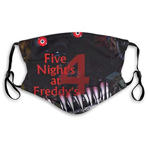 Mundgesichtstuch Kinderfilter Waschbar Five_Night_s_at_Freddy_s Gesichtsschutz Nase Kranker Mann Frauen