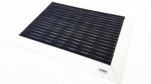 Mat.en Felpudo técnico Plate 25 de aluminio con rampa en 3 lados, para entradas y exteriores 90 x 60 cm … (goma)