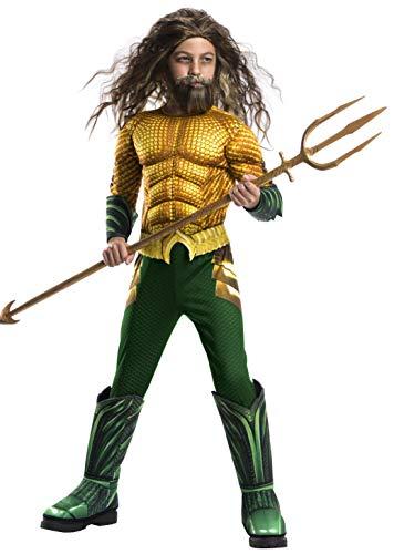 Avengers - Disfraz de Aquaman Premium, para niños, 8-10 años (Rubies 641365-L)