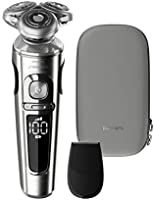 Philips Norelco SP9820/87 Shaver 9000 Prestige, Rechargeable Wet/Dry Electric Shaver with Trimmer Attachment and Premium...