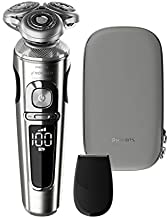 Philips Norelco SP9820/87 Shaver 9000 Prestige, Rechargeable Wet/Dry Electric Shaver with Trimmer Attachment and Premium Case,