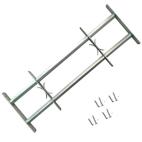 vidaXL Fenstergitter 700-1050 mm Ausziehbar Sicherheitsgitter Einbruchschutz