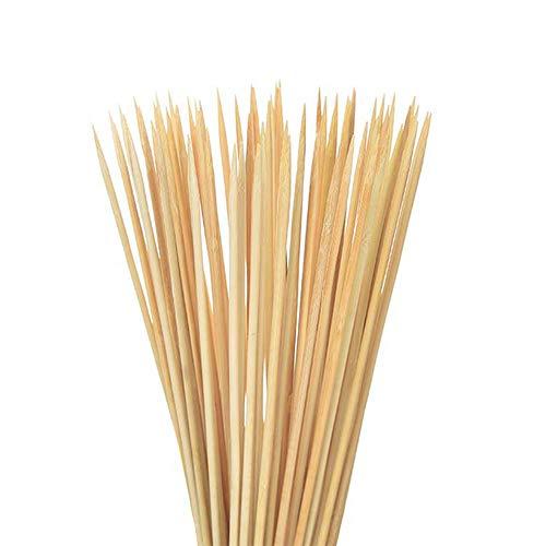 300 Stück Bambusspieße, 25 cm, Einweg-Holzstäbchen, Grillwerkzeug, natürlicher Bambusspieß für Shishish-Kabob-Grill, Obst, Gemüse