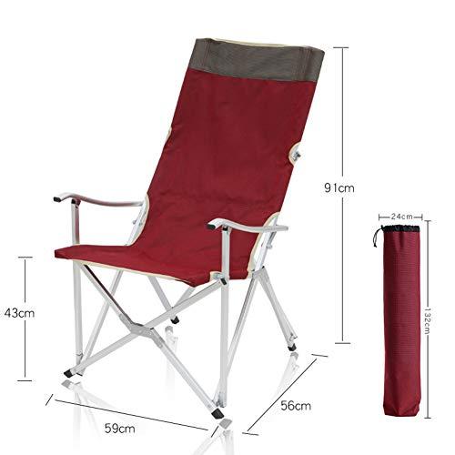 LYCIL Aluminium Tragbar Klappstuhl,Outdoor Klappstühle Mit Armlehnen Gartenstuhl Rasenstuhl Zum Camping Entspannen Freizeit Director Chairs D